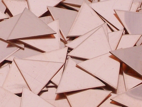 Copper Triangles Stamping Blanks