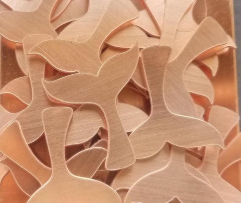 Copper Whale Tail Stamping Blanks