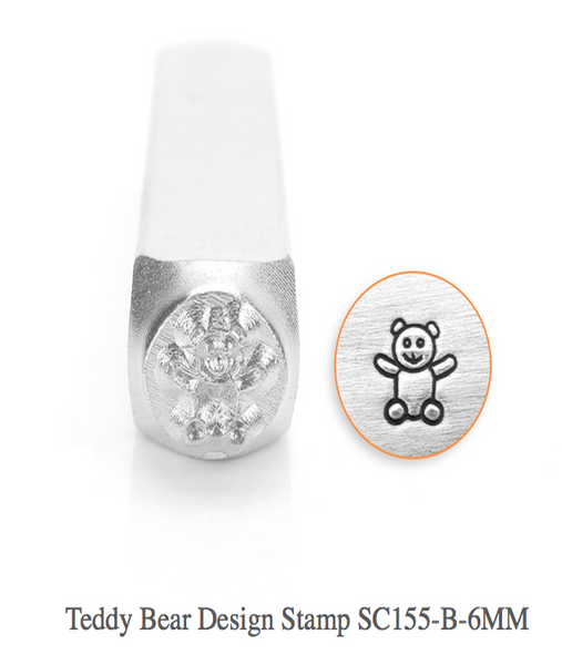 Teddy Bear Design Stamp, SC155-B-6MM