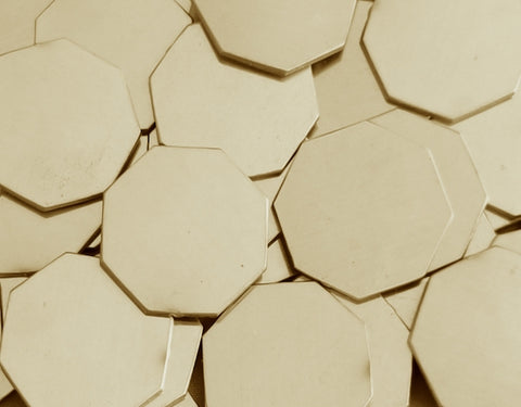 Nickel Silver Octagon Stamping Blanks