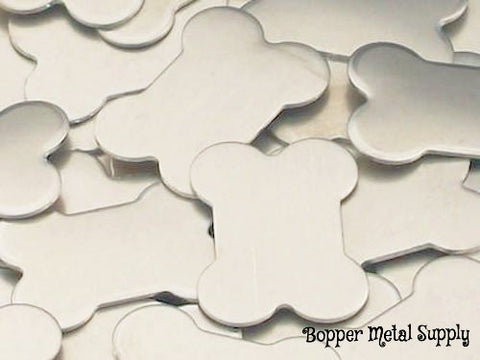 Pewter Dog Bone Stamping Blanks