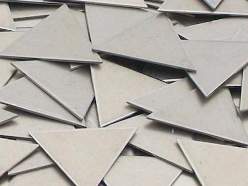 Nickel Silver Triangles Stamping Blanks