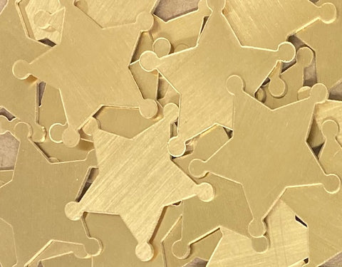NuGold Sheriff Badge Stamping Blanks