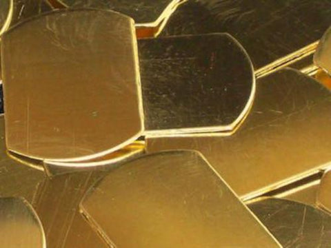 NuGold Dog Tags Stamping Blanks