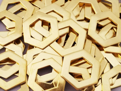 NuGold Hexagon Washer Stamping Blanks