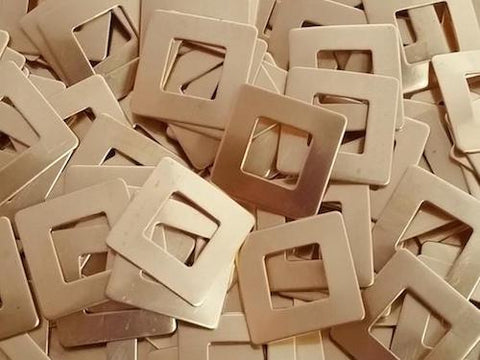 NuGold Square Washers Stamping Blanks