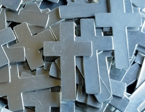 Pewter Cast Cross Stamping Blanks