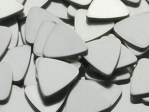 Pewter Stamping Blanks - Guitar Picks