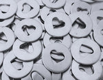 Pewter Heart Discs Stamping Blanks