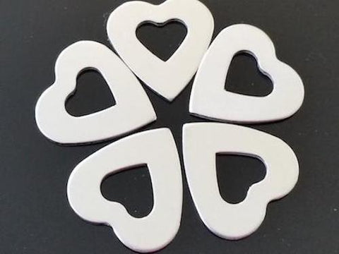 Pewter Heart Washers Stamping Blanks