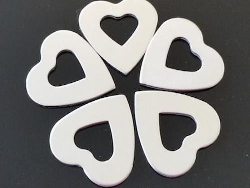 Pewter Stamping Blanks - Heart Washers