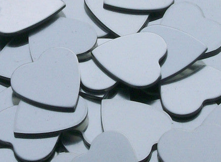 Pewter Hearts Stamping Blanks