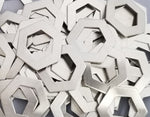Pewter Hexagon Washer Stamping Blanks