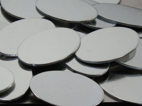 Pewter Ovals Stamping Blanks