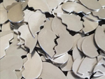 Pewter Cast Broken Hearts Stamping Blanks
