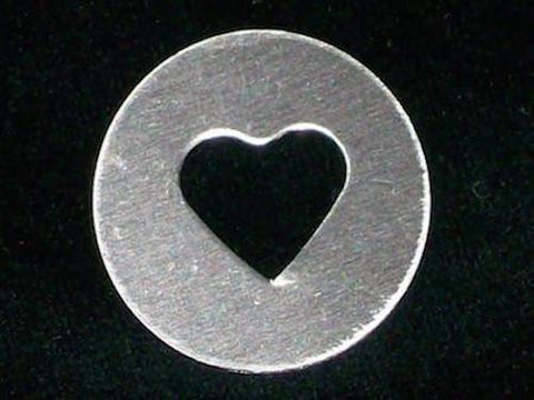 Sterling Silver Heart Discs Stamping Blanks