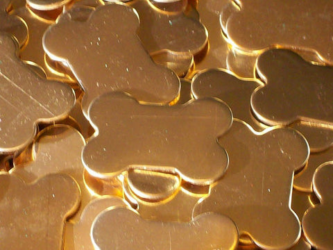 Bronze Dog Bones Stamping Blanks
