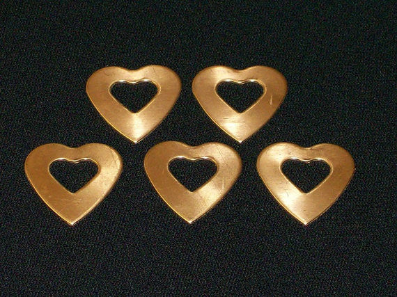 NuGold Heart Washer Stamping Blanks