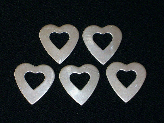 Nickel Silver Heart Washers