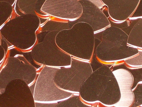 Copper Hearts Stamping Blanks