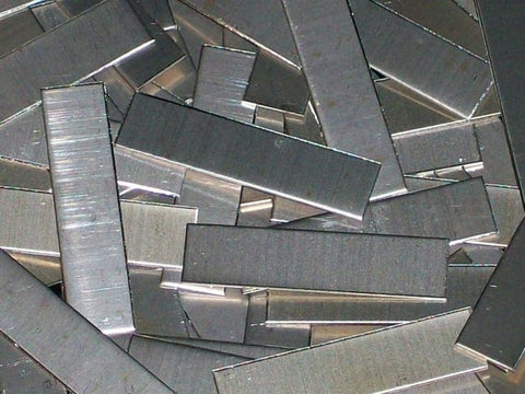 "Nickel Silver Tags Stamping Blanks R8, 2 1/2"" - 2 5/8"""