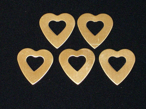 Copper Heart Washers Stamping Blanks