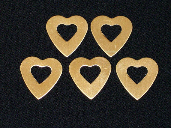 Copper Heart Washers