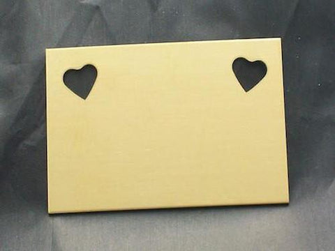 NuGold Heart Cut Out Wallet Insert Stamping Blank