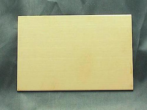 NuGold Plain Wallet Insert Stamping Blank