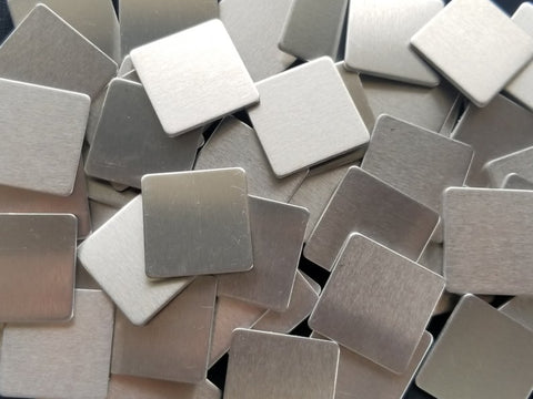 Nickel Silver Rounded Square Stamping Blanks