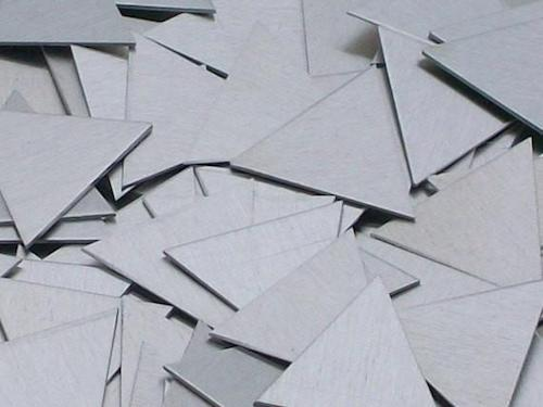 Sterling Silver Triangle Stamping Blanks