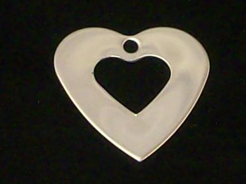 Stainless Steel Heart Washers - 24 ga - Qty 5