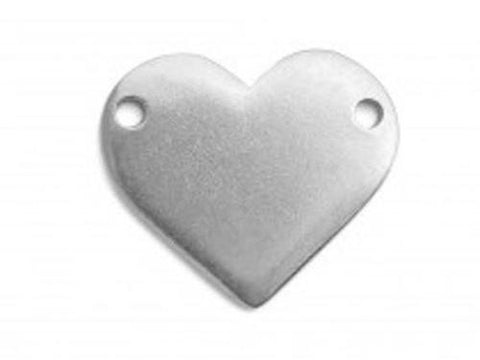 Pewter Cast Heart w/ Holes Stamping Blanks, IA Soft Strike
