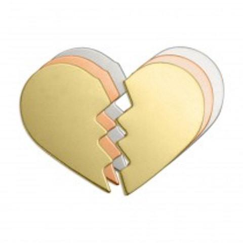 Nickel Silver Broken Heart Stamping Blanks, IA