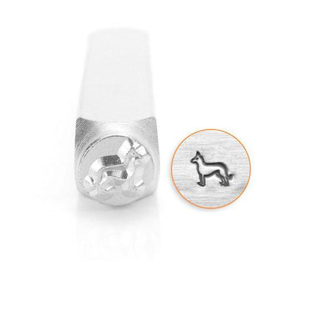 German Shepard Design Stamp,6MM