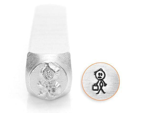 Dad Stick Figure Design Stamp, 7MM