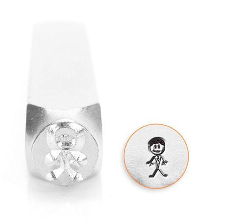 Daddy Stick Figure Design Stamp, 7MM