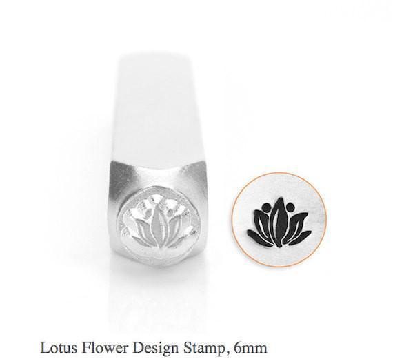 Lotus Flower Design Stamp, SC1514-M-6MM