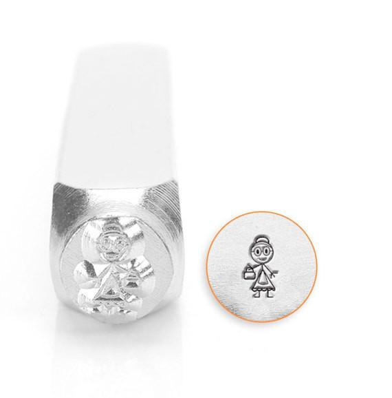 Grandma Stick Figure Design Stamp, SC159-N-7MM