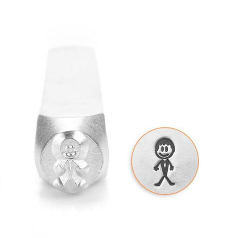 Groom Stick Figure Design Stamp, 7MM