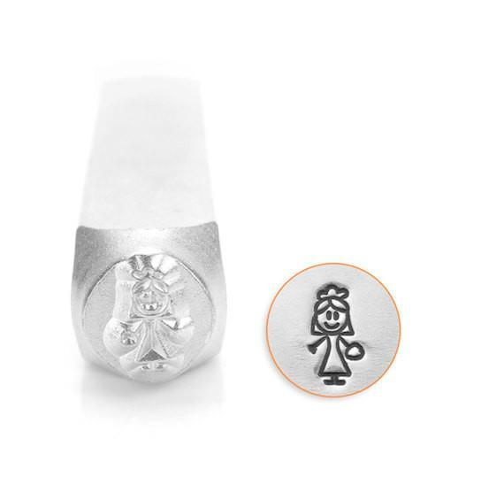 Bride Stick Figure Design Stamp, SC159-V-7MM