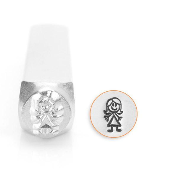 Auntie Stick Figure Design Stamp, 7MM