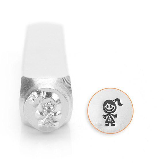 Sara / Girl / Daughter Stick Figure Design Stamp, SC159-S-6MM