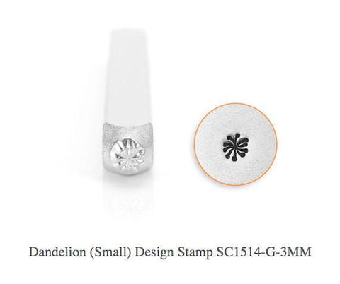 Dandelion Design Stamp, 3MM