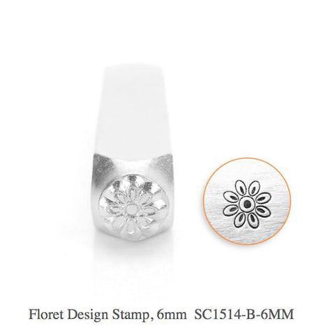 Floret Design Stamp, 6MM