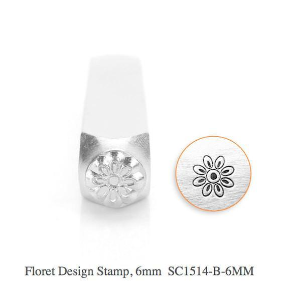 Floret Design Stamp, SC1514-B-6MM