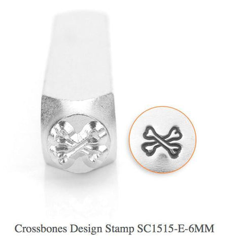 Cross Bones Design Stamp, 6MM