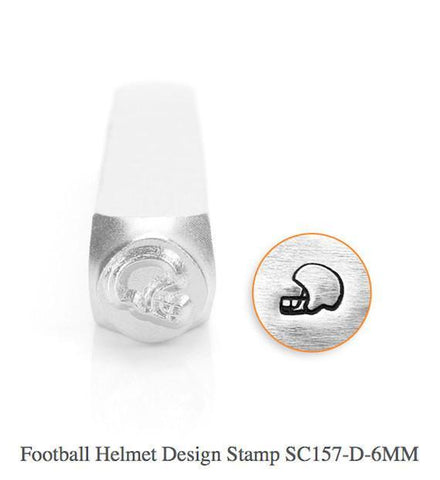 Football Helmet Design Stamps, 6MM