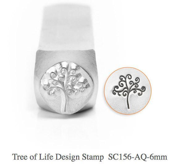 Tree of Life Design Stamp, SC156-AQ-6MM