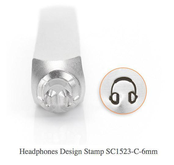 Headphones Design Stamp, SC1523-C-6MM